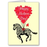 Romantic zebra mothers day