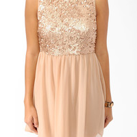 Paillette Embellished Dress