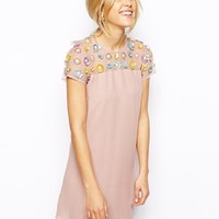 ASOS Floral Embellished Dress