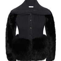 Merinos And Fur Cardigan by Nina Ricci - Moda Operandi
