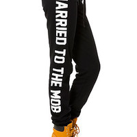 The Supreme Bitch Sweatpants in Black and White