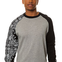 The Squad Life Raglan in Speckle Grey & Black