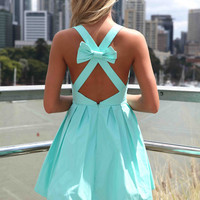 PRE ORDER - BLESSED ANGEL DRESS (Expected Delivery 31st March, 2014) , DRESSES, TOPS, BOTTOMS, JACKETS & JUMPERS, ACCESSORIES, 50% OFF SALE, PRE ORDER, NEW ARRIVALS, PLAYSUIT, COLOUR, GIFT VOUCHER,,Blue,Green,CUT OUT,SLEEVELESS,MINI Australia, Queensland,