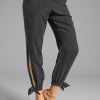 Trina Turk Liquid Washed Twill Cardolino Pant in Black from REVOLVEclothing.com