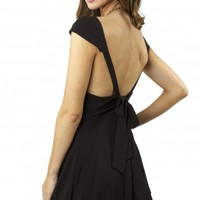 Cap & Tie Dress Black