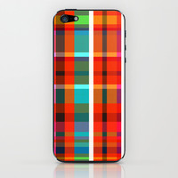 Madras Bright Check iPhone & iPod Skin by Simi Design