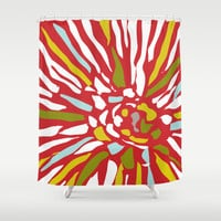 Pia - Abstract floral Shower Curtain by Simi Design