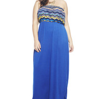 Chevron 2Fer Maxi Tube Dress | Wet Seal