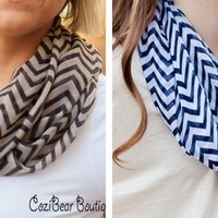Chevron Infinity Scarf – QUICK SHIP!