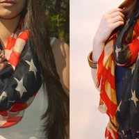 They're Back! Vintage Inspired American Flag Scarf-2 Options!
