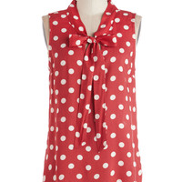 Knots and Dots Top | Mod Retro Vintage Short Sleeve Shirts | ModCloth.com
