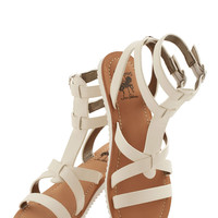 Glimmer is Served Sandal in Ivory | Mod Retro Vintage Sandals | ModCloth.com