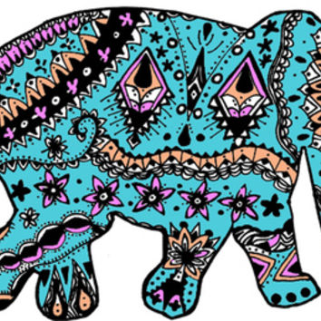 elephant Art Print by kelsey flones