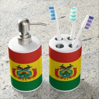 Bolivian flag Bath Set