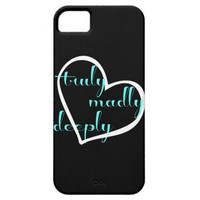 truly madly deeply, black & turquoise iPhone