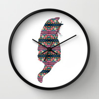 Aztec Cat Wall Clock by Michelle
