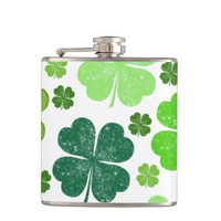 Saint Patrick Day Lucky Green Four Leaf Clovers