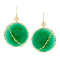 Lana Glow Green Onyx 14k Gold Earrings