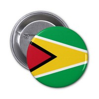 Guyanese flag button