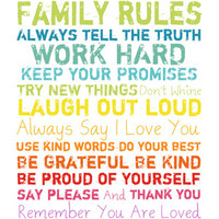 Walmart: Colorful Family Rules