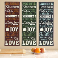 "Walmart: Personalized Kitchen Recipe Canvas, 9"" x 27"""
