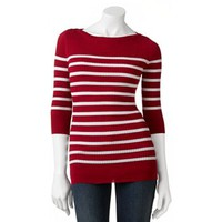 It's Our Time Boatneck Ribbed Sweater - Juniors