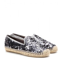 TORY BURCH - MISCHA SEQUINNED ESPADRILLES