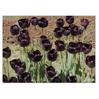Black Tulips Glass Cutting Board