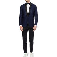 AMI - Shawl-Collar Wool-Flannel Tuxedo Blazer | MR PORTER