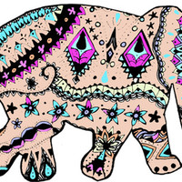 elephants Art Print by kelsey flones