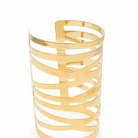 Metal Zigzag Cut-Out Cuff