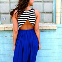 Jail Break Pleated Maxi {Royal}