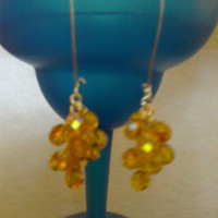 CITRINE Dangle Drop EARRINGS by jewelryandmorebyjb on Etsy