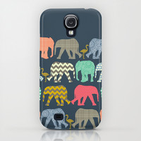 baby elephants and flamingos iPhone & iPod Case by Sharon Turner