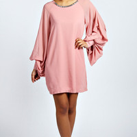 Amy Embellished Neck Shift Dress