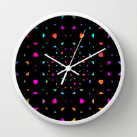 Night Diamonds Wall Clock by Ornaart