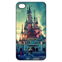 Disney Castle Land Hard Back Shell Case Cover Skin for Iphone 4 4g 4s Cases Art Love - Black/white/clear