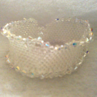DIAMOND Princess CUFF BRACELET by jewelryandmorebyjb on Etsy
