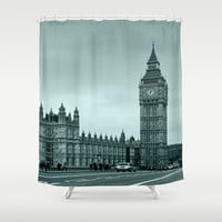Big Ben Shower Curtain by Alice Gosling