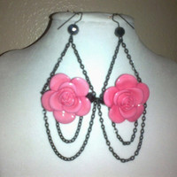 FLOWER CHANDELIER EARRINGS Was 15 Now 12 by jewelryandmorebyjb