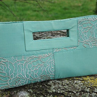 Threadpoets Mint Green Embroidered Purse by threadpoets on Etsy