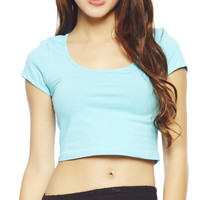 Scoop Neck Crop Top | Wet Seal
