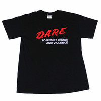 Vintage Dare Shirt D.A.R.E. To Resist Drugs and Violence Mens Size Medium