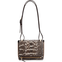 Snakeskin Mini Pandora Box Crossbody Bag