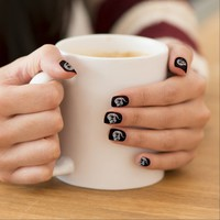 Cheshire Cat Black Nails