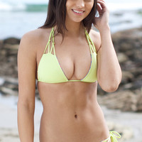 The Girl and The Water - Bettinis - Chloe Reversible Bikini Top / Navajo/Lime - $75