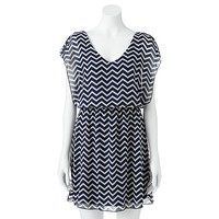 Speechless Chevron Dress - Juniors