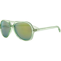 Green mirrored aviator sunglasses - aviator sunglasses - sunglasses - women