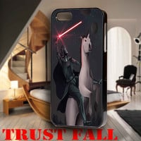 Darth Vader Riding a Unicorn for iPhone 4, iPhone 4s, iPhone 5 /5s/5c, Samsung Galaxy S3, Samsung Galaxy S4 Case