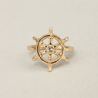 Sea You Later Gold Knuckle Ring